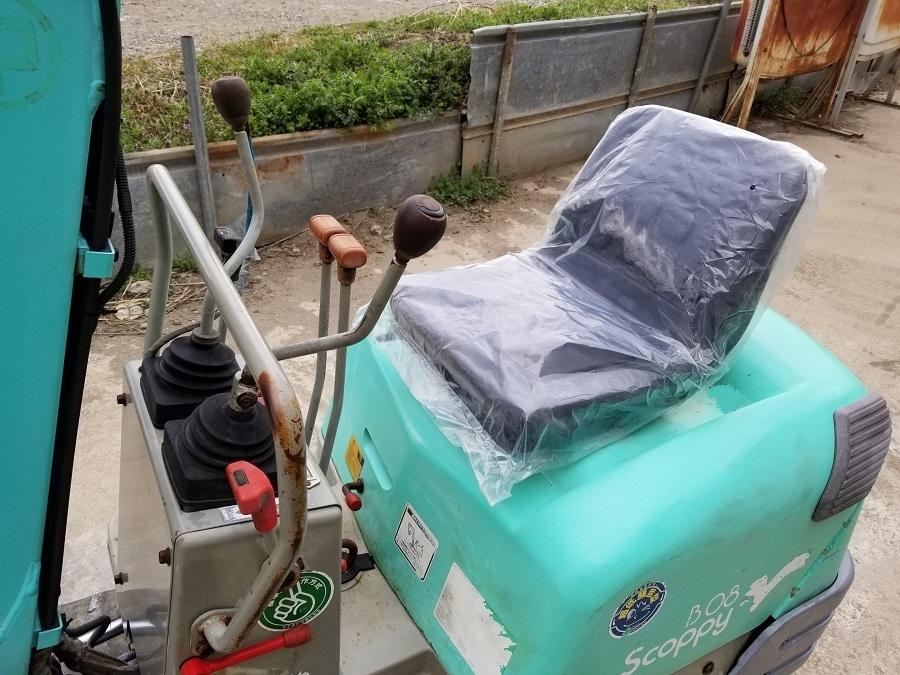 売切り 油圧ショベル ミニユンボ YANMAR B08 Scoppy ヤンマー 0.8トン ゴムキャタ 排土板 3気筒ディーゼルエンジン 椅子新品_画像6