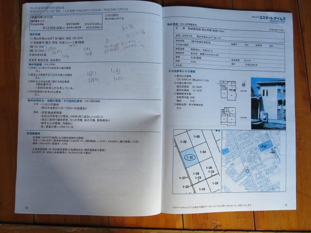 H29 不動産競売情報 さいたま地裁川越支部 計11冊  開札結果付き_画像2