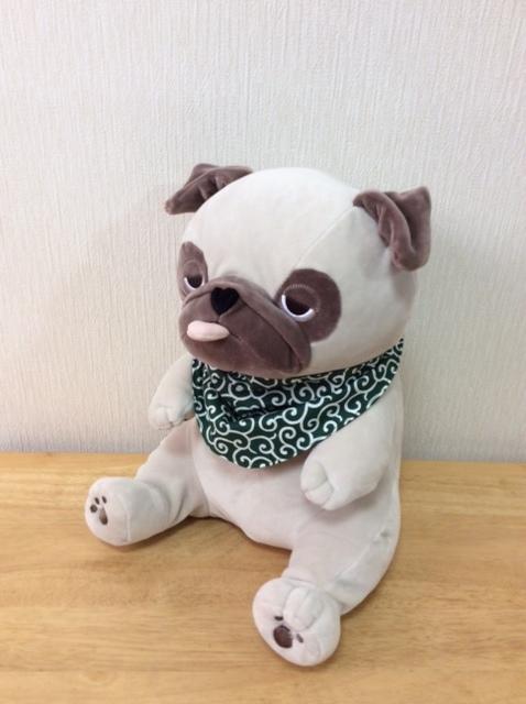 ハンドメイド 手作り わんこ用 リバーシブルバンダナ 唐草×水玉 中型犬・フレンチブルドッグ・パグ Mサイズ_画像1