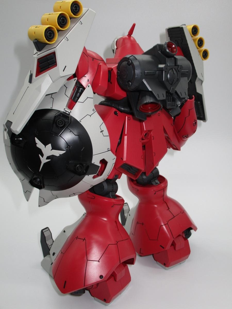RE/100 「MSN-03 ヤクト・ドーガ(クェス・エア機)」(逆襲のシャア クエス・パラヤ) 素組スミ入れ 完成品_画像2