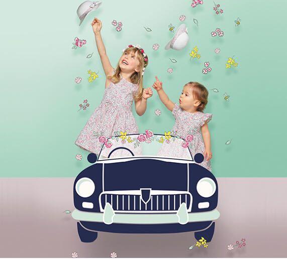 59cf7f483e910 新品 フランス 120 130 花柄 ワンピース レース 結婚式 お誕生日 発表会 リバティ