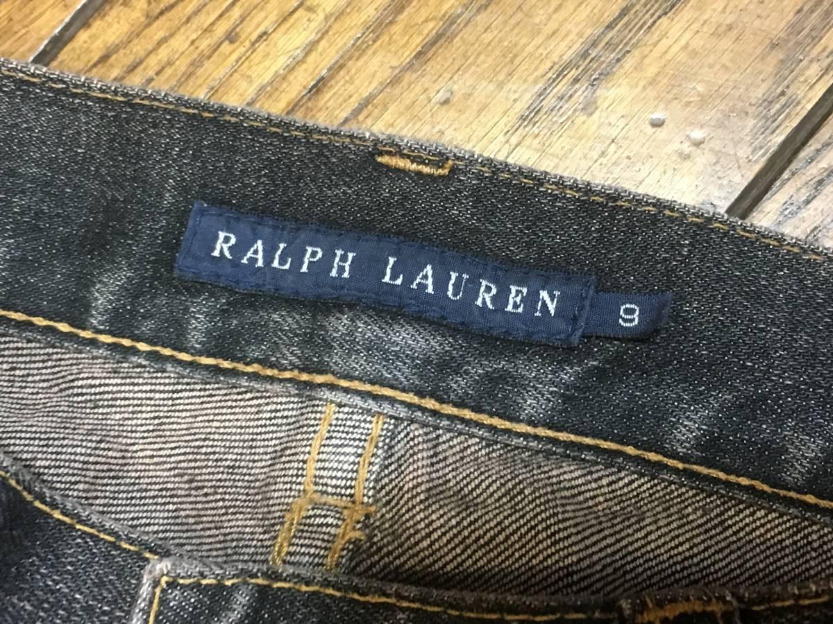 A0313 ラルフローレン RALPH LAUREN◆デニムパンツ/ジーンズ レディース9号 ブラック_画像6