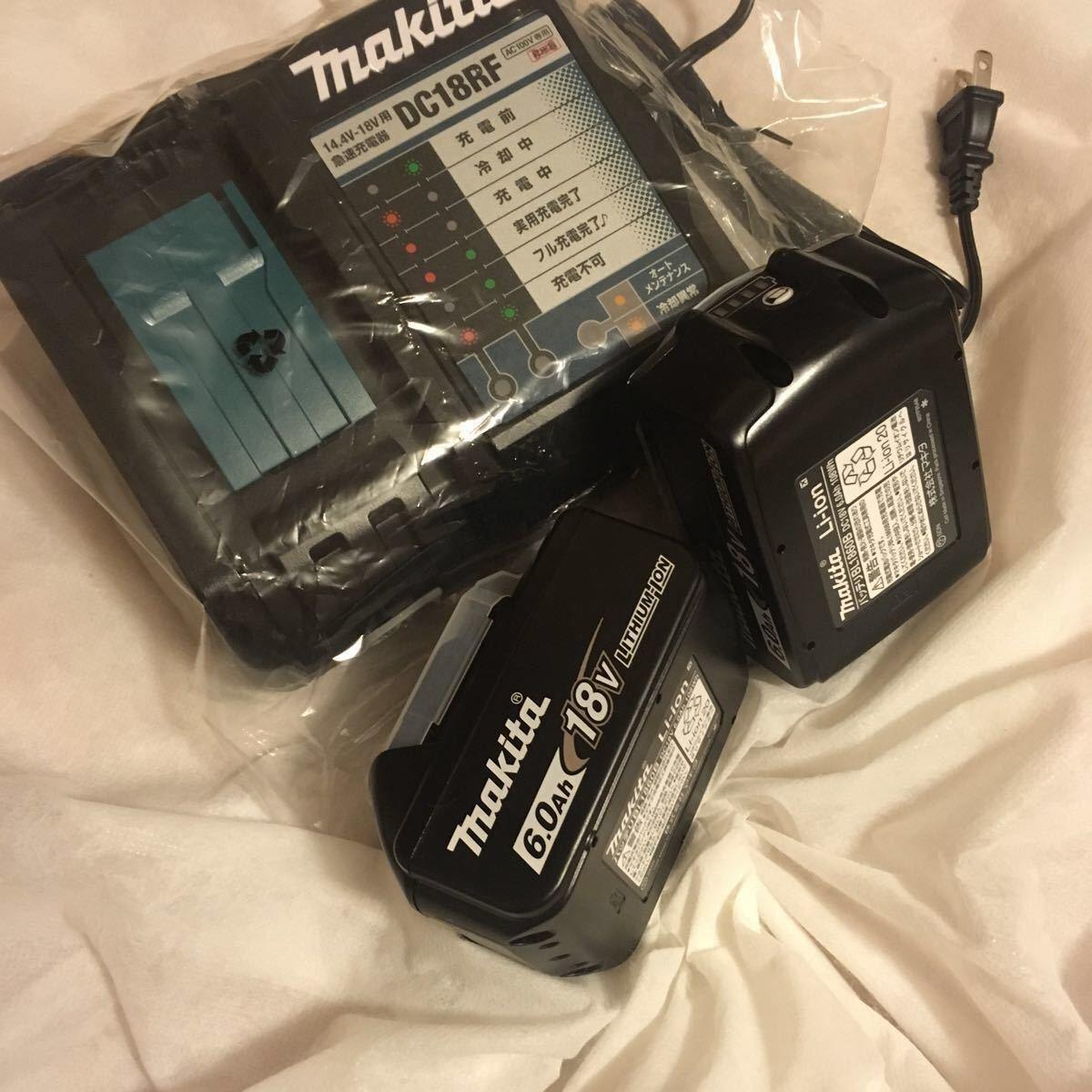 マキタ 18v 最新インパクトドライバーセットばらし品 充電器DC18RF 雪マーク*付きバッテリー1860B2個 ハンマードリル 丸ノコ用⑨