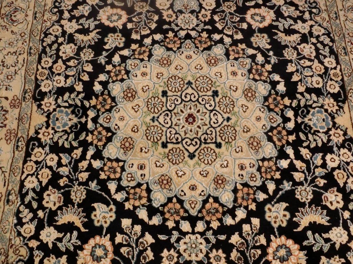 「1570」 イラン直輸入☆新品◇未使用 ナイン産 高級ペルシャ絨毯 コルクウール100% 手織り 手紡ぎ 203cm×125cm_画像2
