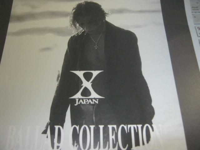 X JAPAN エックス / BALLAD COLLECTION 発売告知ポスター YOSHIKI HIDE TAIJI_画像2