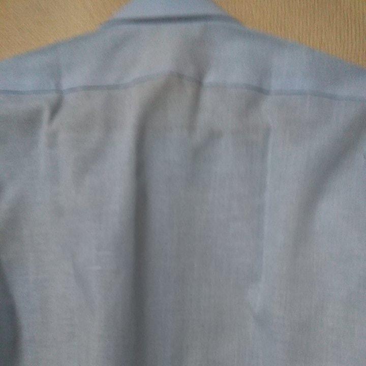 男性用、水色カッターシャツ、M、新品100円_画像2
