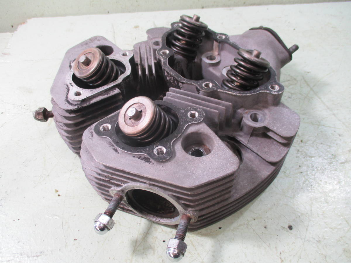 カワサキ 初期型 W1 シングルキャブ シリンダーヘッド (検 W1S メグロ