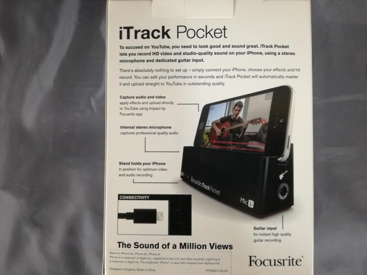 J499 新品 送料無料 Focusrite iTrack Pocket / iPhoneレコーディングデバイス 楽曲制作 歌ってみた 踊ってみた 動画配信 ユーチューバー_画像2