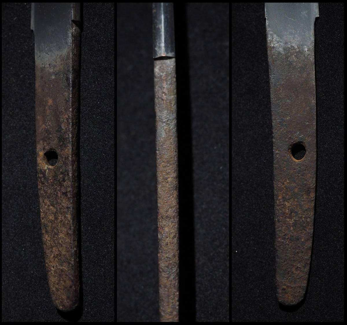 ■白鞘入りの平造り短刀■無銘■素晴らしい刃紋■七寸一分六厘■元幅1.88㎝■元重5㎜■御守り刀に最適です■_画像4