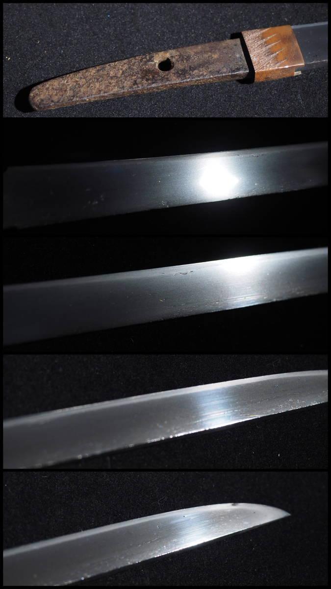 ■白鞘入りの平造り短刀■無銘■素晴らしい刃紋■七寸一分六厘■元幅1.88㎝■元重5㎜■御守り刀に最適です■_画像2