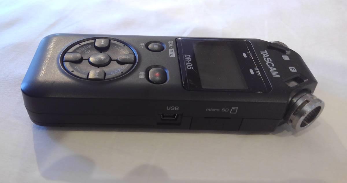 ◆TASCAM DR-05 タスカム Liner PMC Recorder レコーダー◆_画像3