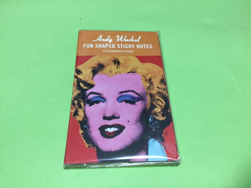アンディ・ウォーホルの作品「ゴールド・マリリン・モンローをテーマにした7つのデザインの付箋セット◎長期保管デッドストック品未使用品