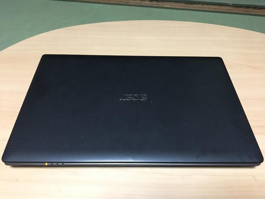 「美品」超速SSHD使用 Acer Aspire 5750-N54E/K Corei5-2410M/8GB/SSHD(1TB)1000GB/DVDマルチ Windows10 Office2013 _画像2