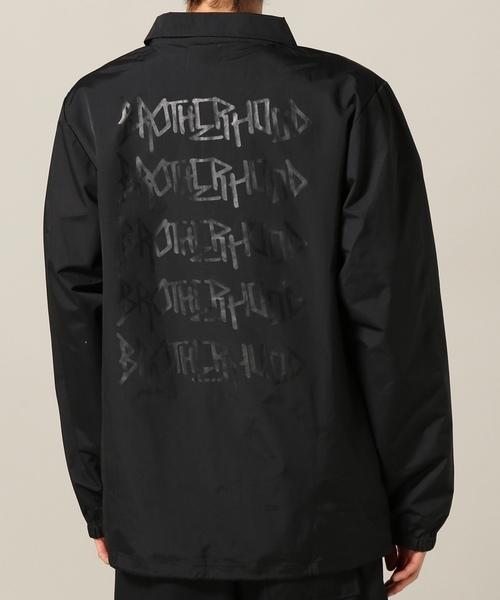 2018 ビッグサイズ Brother hood ブラザーフッド Iconic Coach Jacket 黒 正規品 新品未使用 タグ付き 撮影,採寸の為開封 人気完売XLサイズ_BLACK