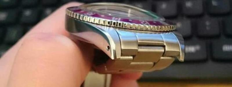 GMT watch ペプシベゼル ミラー黒文字盤 ブレスつき_画像3