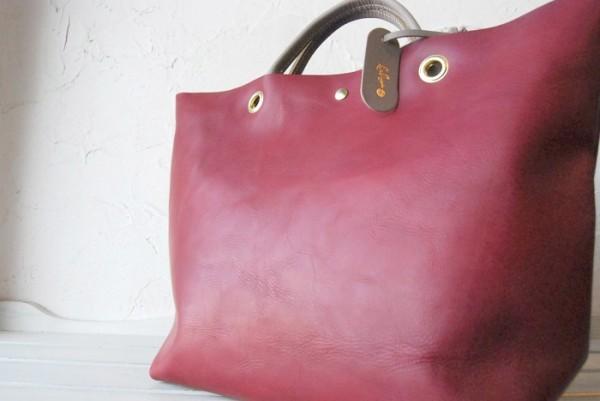 贅沢 柔らかい コシ 軽量 天然革 レザーバッグ ハンドメイド 日本製_画像9