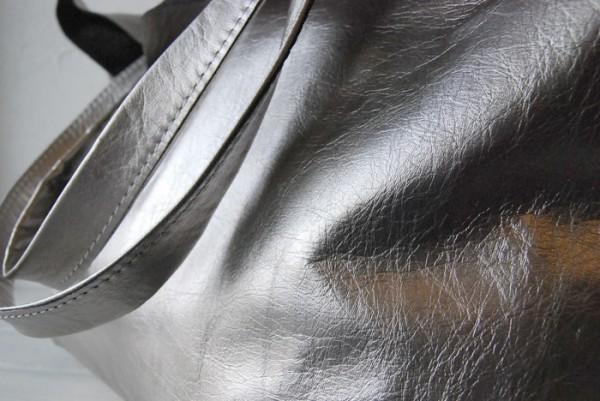 贅沢 軽量 柔らかい 肩掛け クシャ トート ハンドメイドバッグ オールレザー_画像5