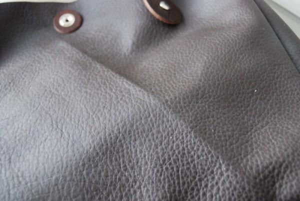 とても軽量 クシャ レザーバッグ ハンドメイド オリジナル お取り置き可_画像6
