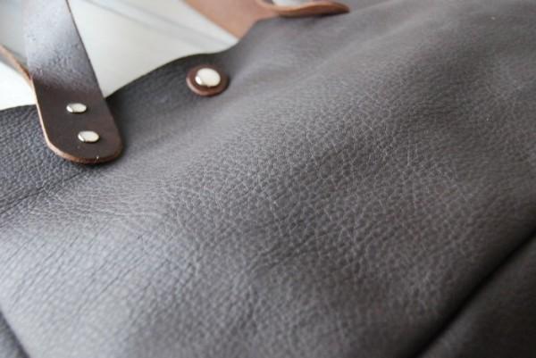 とても軽量 クシャ レザーバッグ ハンドメイド オリジナル お取り置き可_画像8