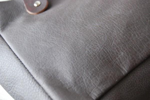 とても軽量 クシャ レザーバッグ ハンドメイド オリジナル お取り置き可_画像7