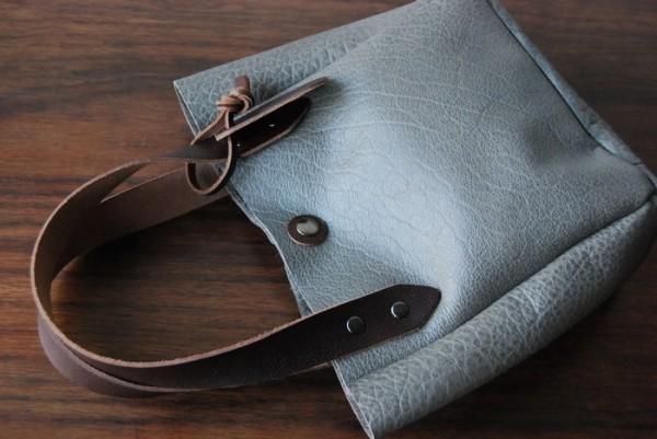 軽量 バッファロー 天然革 ハンドメイドバッグ お取り置き可_画像8