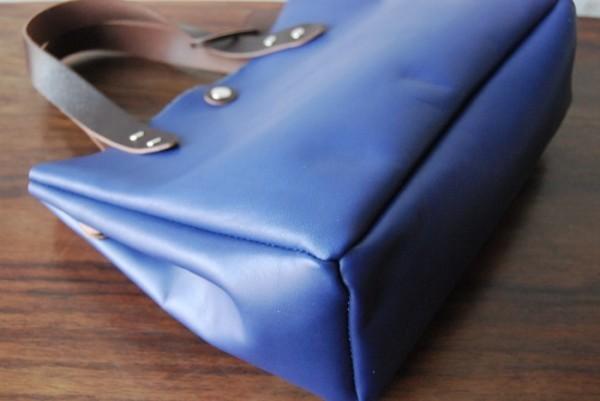 軽量 ブルー レザー シンプル ハンドメイド お取り置き可_画像8