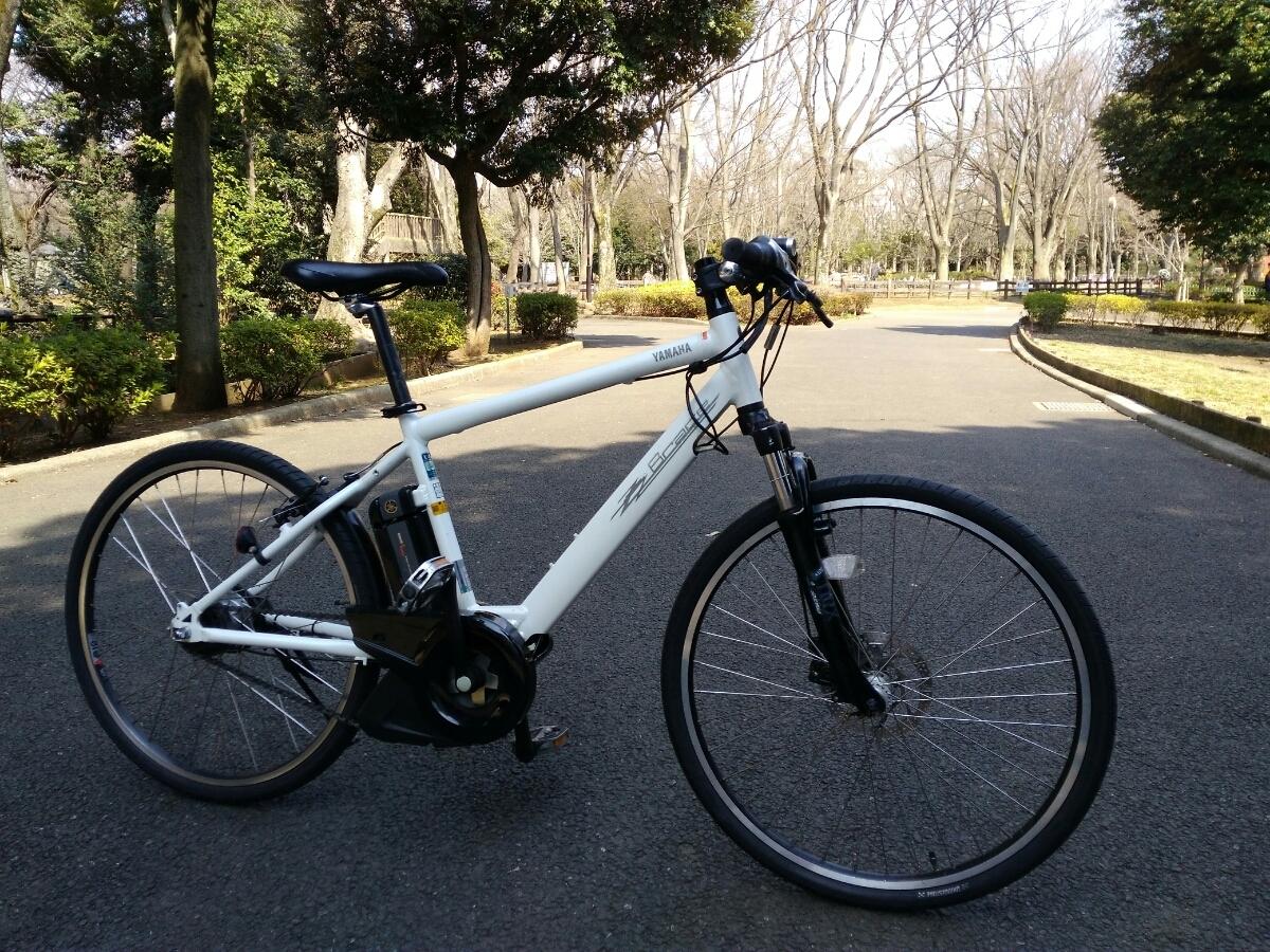 【訳あり】【東京都・学芸大学駅でお渡し】ヤマハ パスブレイスL 電動アシスト自転車 8段変速クロスバイク YAMAHA PAS BRACE L