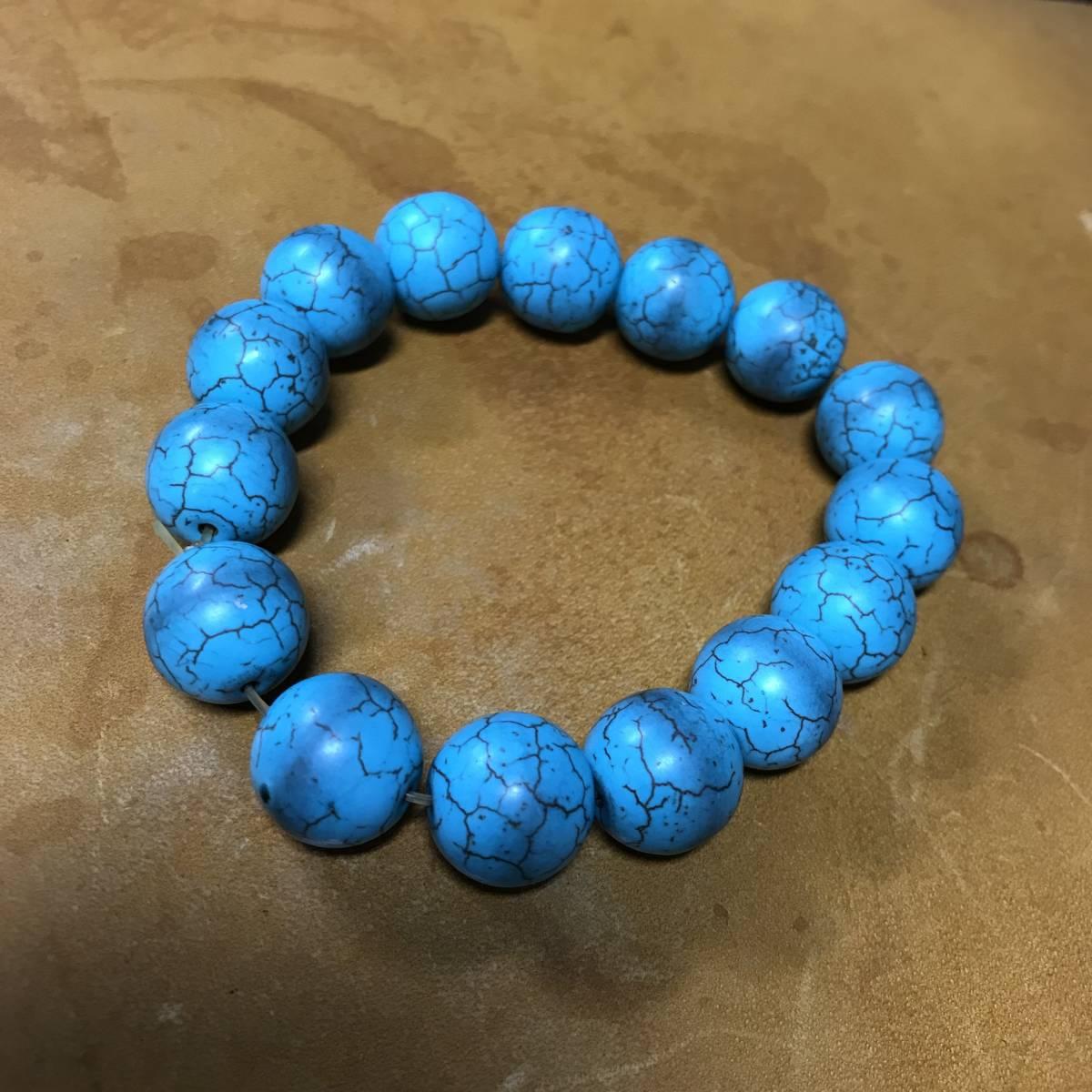 ブレスレット ターコイズ トルコ石 タイプ パワーストーン 数珠