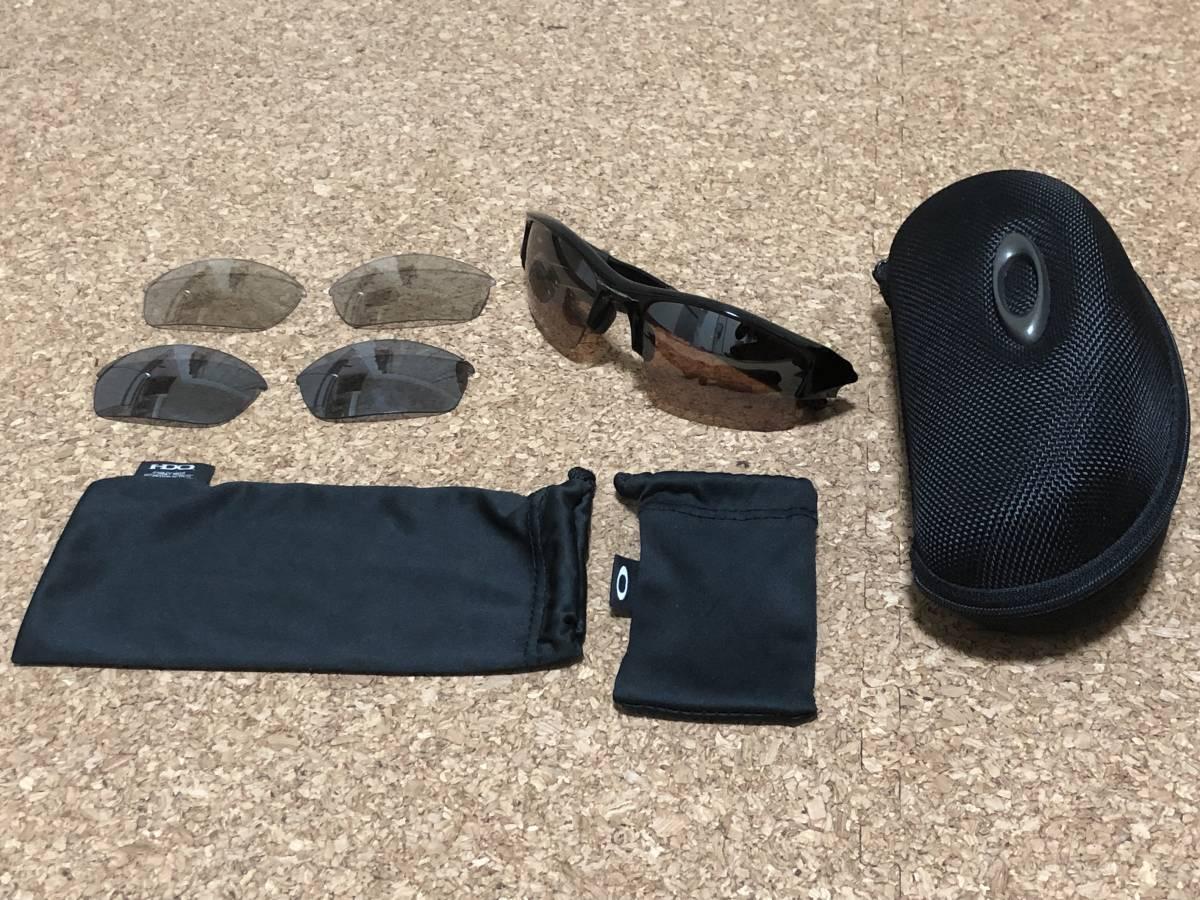 【実物中古】Oakley オークリー FLAK Jacket フラックジャケット PolishedBlack × VR28 替レンズ付_画像2