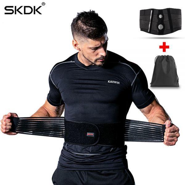 ☆彡SKDK メンズ & レディースアジャスタブル弾性ウエストサポートベルト腰椎バックサポートワークアウトベルトブレース_画像2
