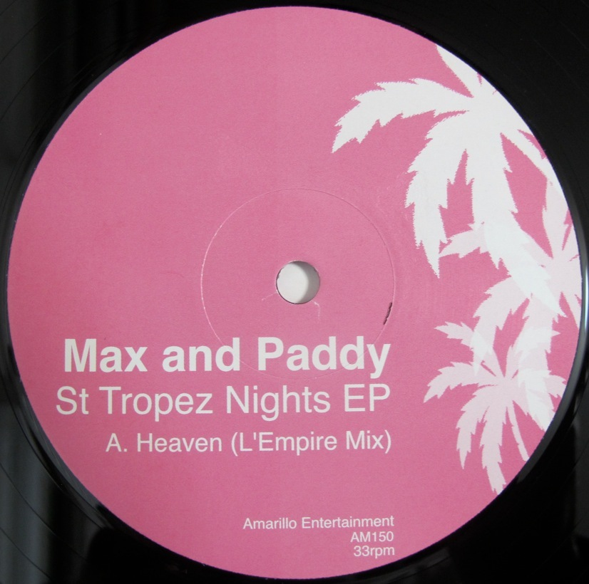 MAX and PADDY - St Tropez Nights EP UK盤12インチ (R&B / UK SOUL / POP) (J-FIVE / WHYCLIFFE / CJ MACKINTOSH)_画像1