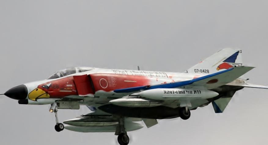 航空自衛隊百里基地のF-4ファントムⅡ採用40周年パッチ 青_画像5