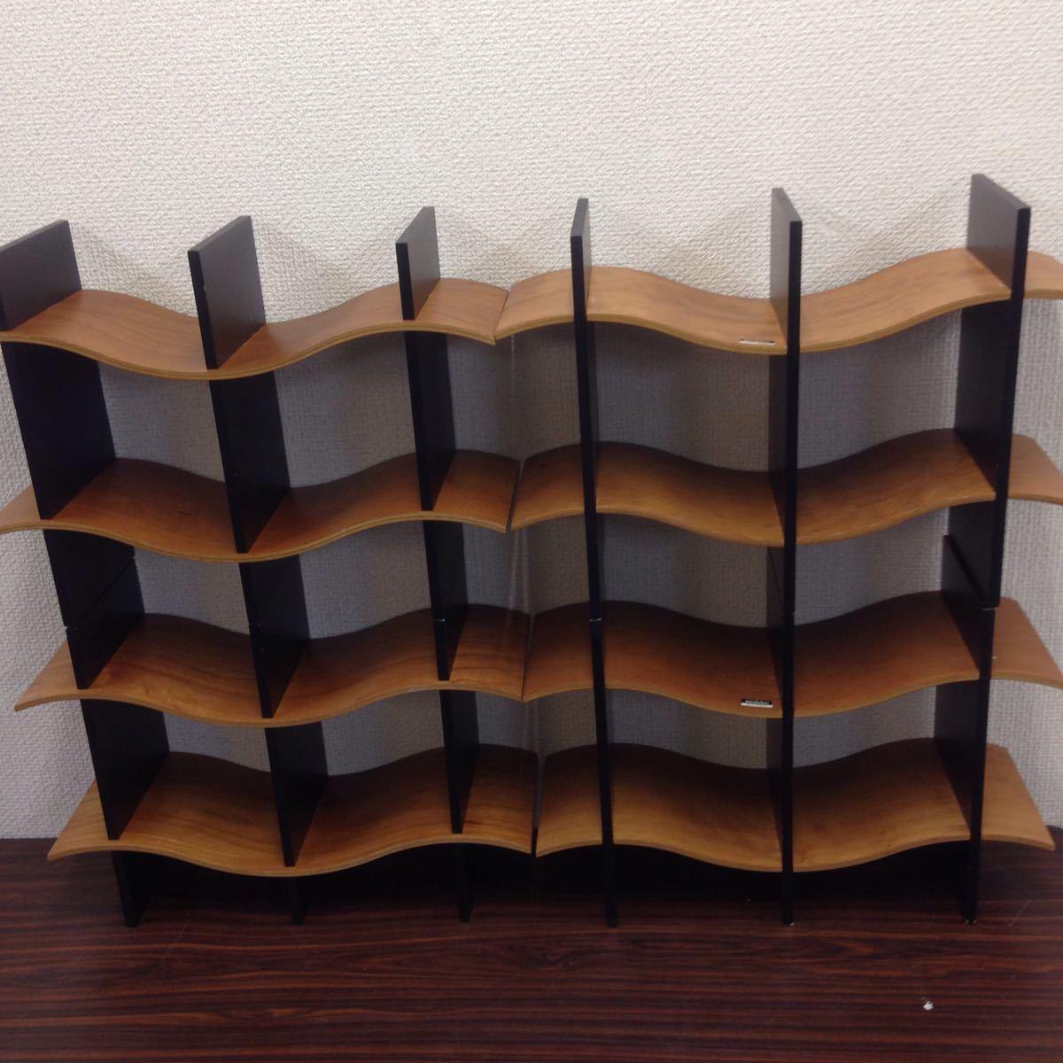 エ-003 モデュラス(modulus) インテリアラック オブジェ 収納ラック CDラック 木製 100サイズ