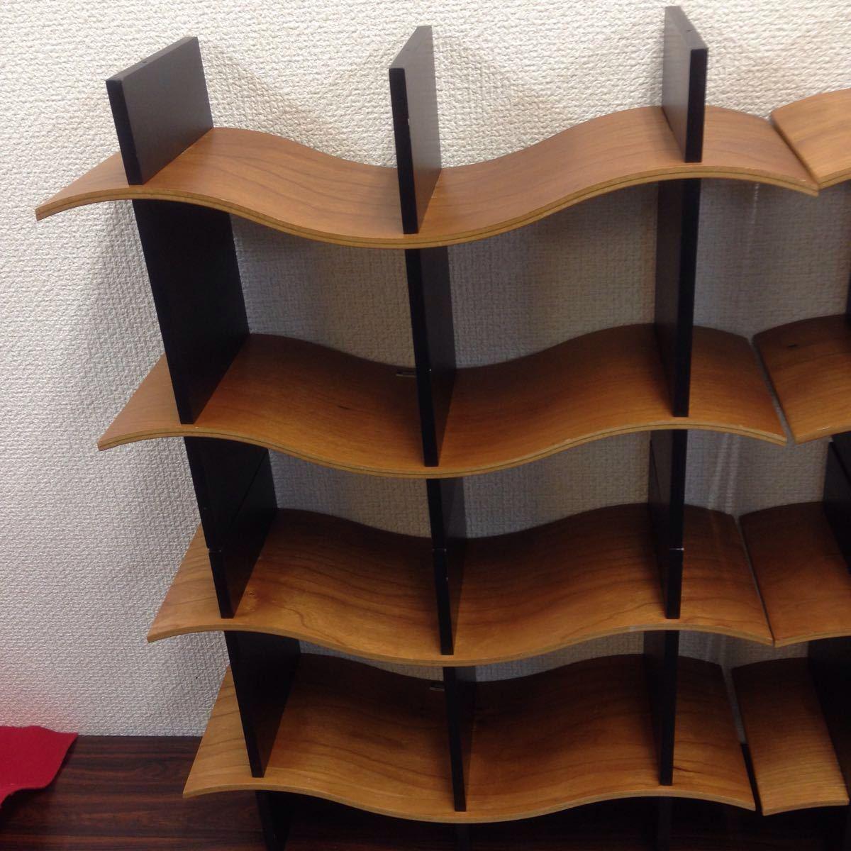 エ-003 モデュラス(modulus) インテリアラック オブジェ 収納ラック CDラック 木製 100サイズ_画像2