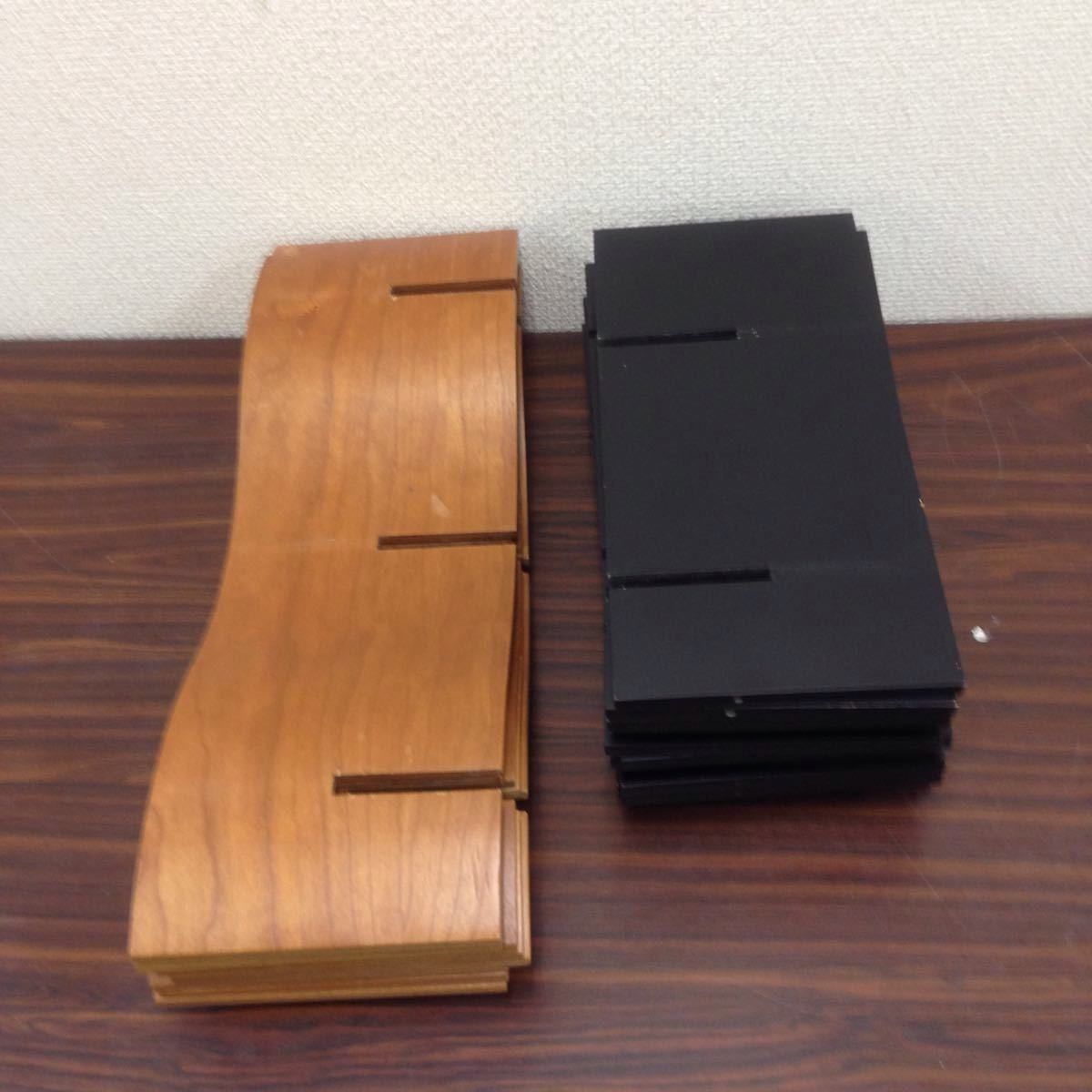 エ-003 モデュラス(modulus) インテリアラック オブジェ 収納ラック CDラック 木製 100サイズ_画像6