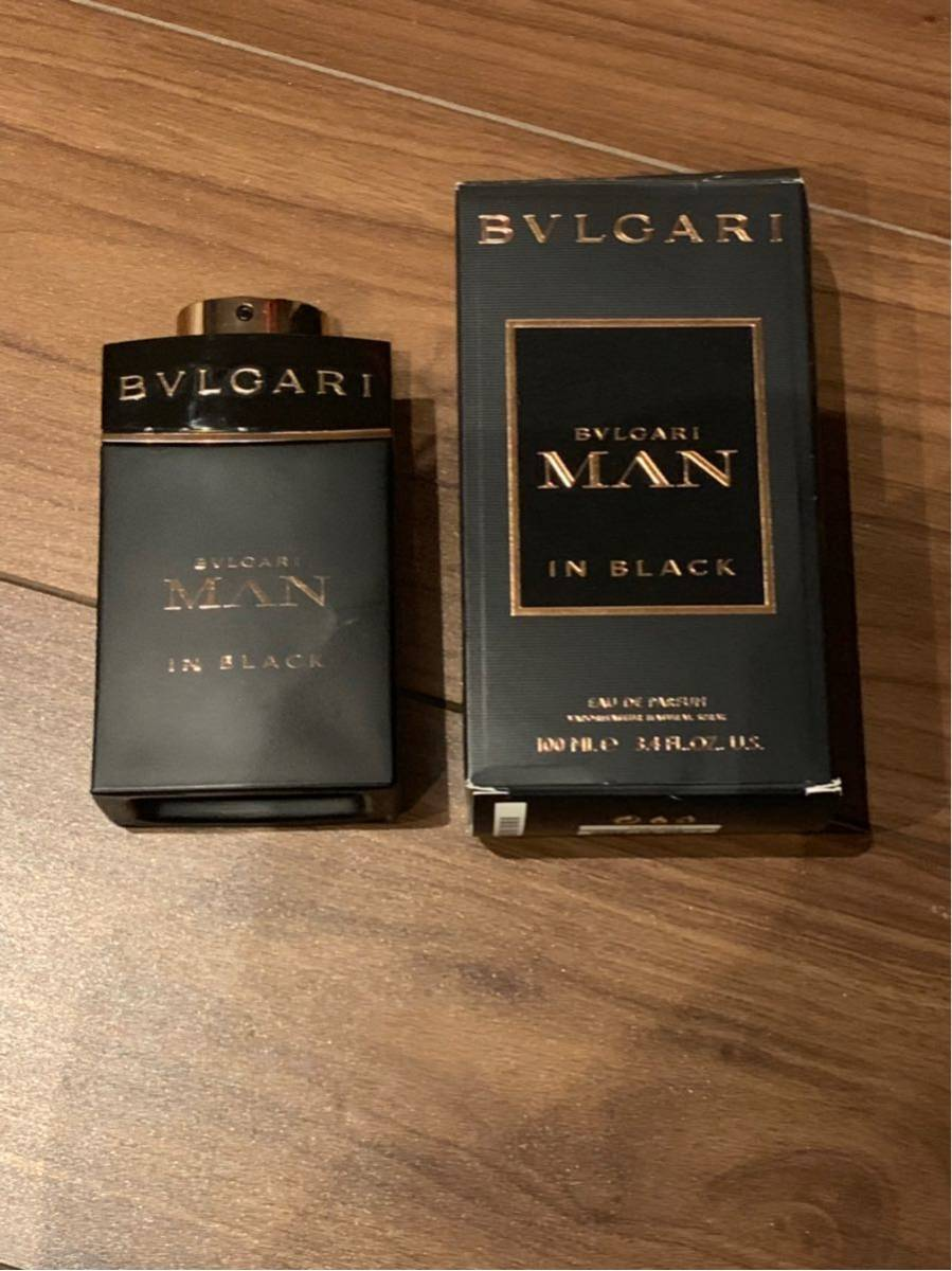 BVLGARI ブルガリ MAN in BLACK 香水 100mm 外箱付き ほぼ新品_画像2
