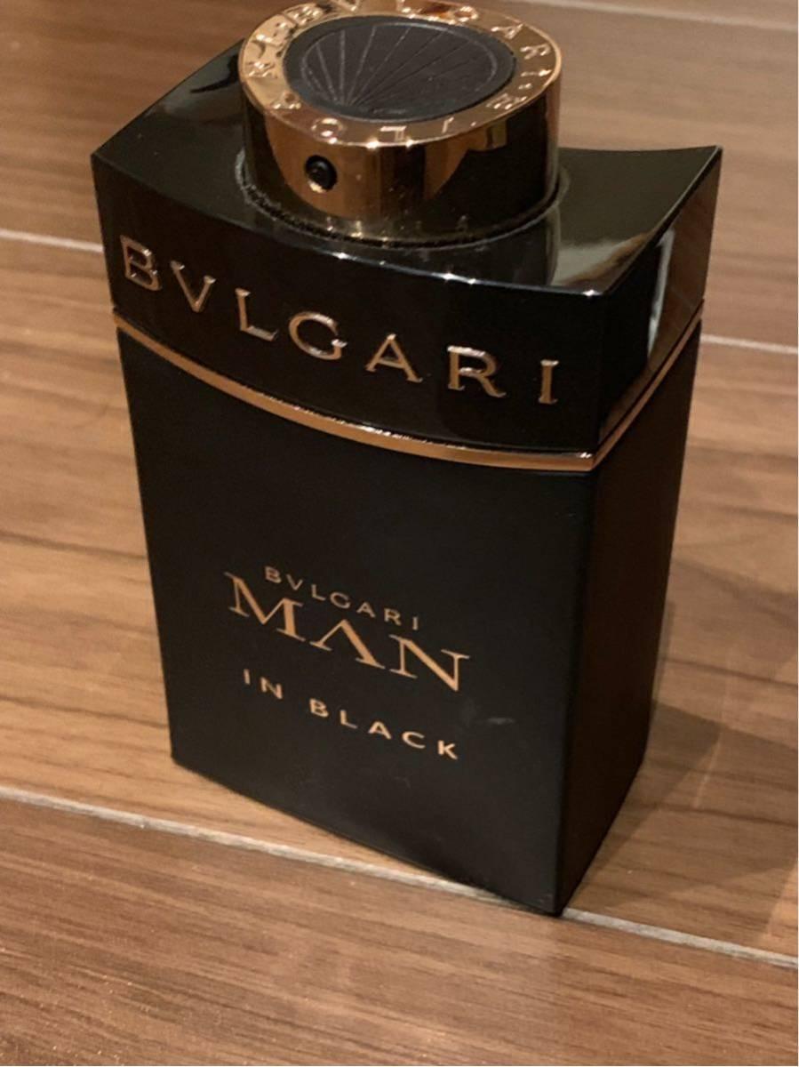 BVLGARI ブルガリ MAN in BLACK 香水 100mm 外箱付き ほぼ新品