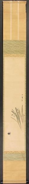 【模写】 掛軸 松仙 筆 「花鳥画」 紙本_画像1