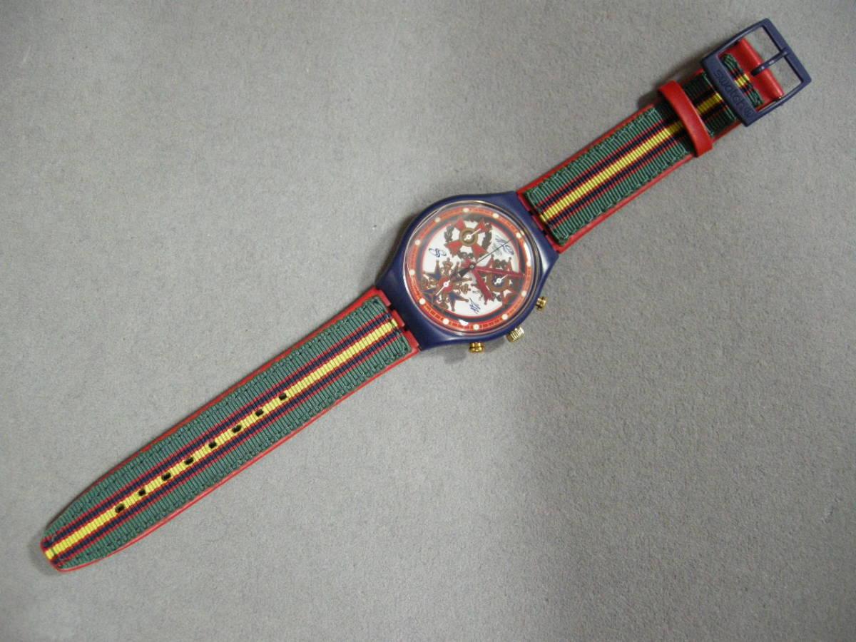 【未使用品】スウォッチ腕時計 クォーツ クロノグラフ SWATCH_画像3