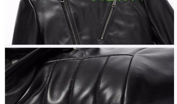 シープスキン アウトロースタイル ライダース レザージャケット ブラック Lサイズ(38) シングル ダブル イタリアンレザー ラム 羊革_画像10