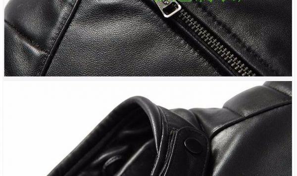 シープスキン アウトロースタイル ライダース レザージャケット ブラック Lサイズ(38) シングル ダブル イタリアンレザー ラム 羊革_画像8