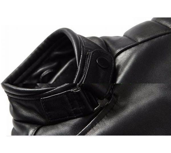 シープスキン アウトロースタイル ライダース レザージャケット ブラック Lサイズ(38) シングル ダブル イタリアンレザー ラム 羊革_画像5