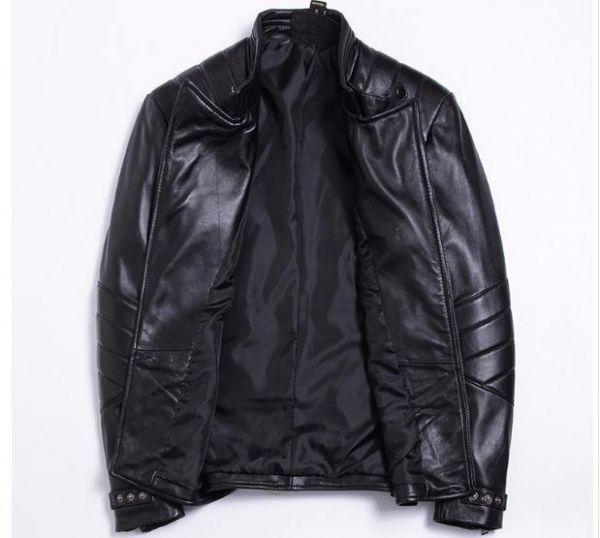 シープスキン アウトロースタイル ライダース レザージャケット ブラック Lサイズ(38) シングル ダブル イタリアンレザー ラム 羊革_画像3