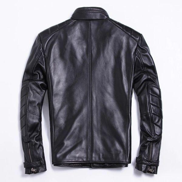 シープスキン アウトロースタイル ライダース レザージャケット ブラック Lサイズ(38) シングル ダブル イタリアンレザー ラム 羊革_画像2