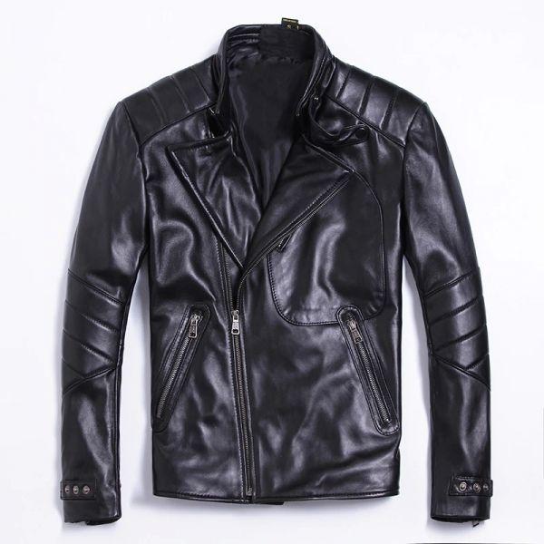 シープスキン アウトロースタイル ライダース レザージャケット ブラック Lサイズ(38) シングル ダブル イタリアンレザー ラム 羊革_画像1
