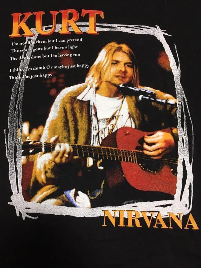 ビンテージ 90s ブート nirvana カート コバーン Tシャツ unplugged Lサイズ ニルヴァーナ ニルバーナ_画像3