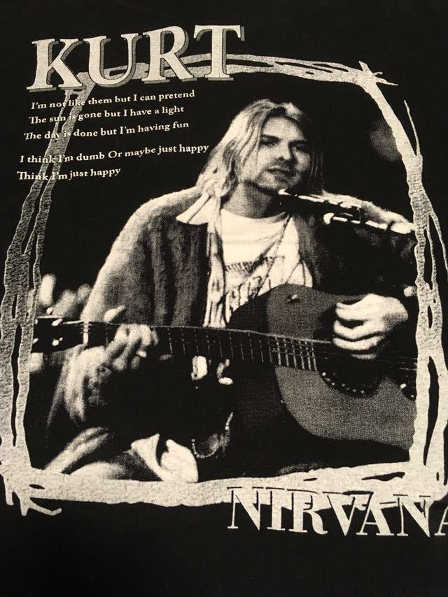 ビンテージ 90s ブート nirvana カート コバーン Tシャツ unplugged Lサイズ ニルヴァーナ ニルバーナ_画像4