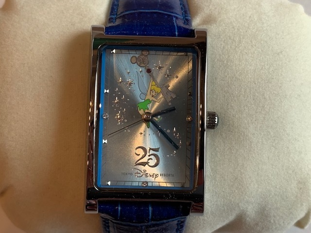 ◆TDR東京ディズニーリゾート25周年 ウォッチ(腕時計) 非売品 ティンカーベル◆_画像1