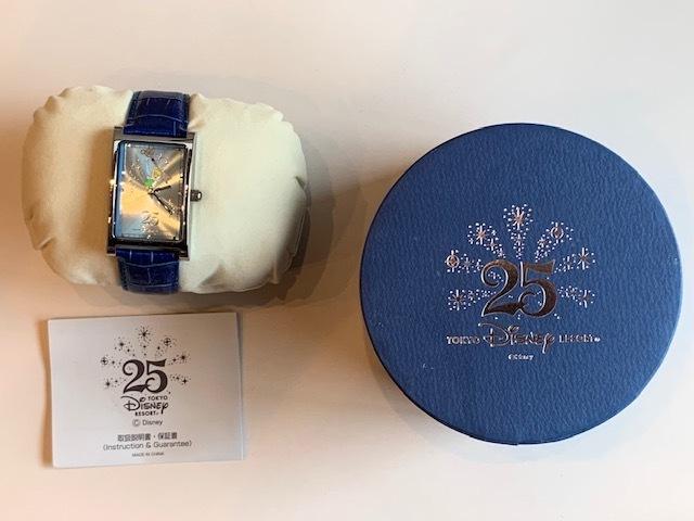 ◆TDR東京ディズニーリゾート25周年 ウォッチ(腕時計) 非売品 ティンカーベル◆_画像2