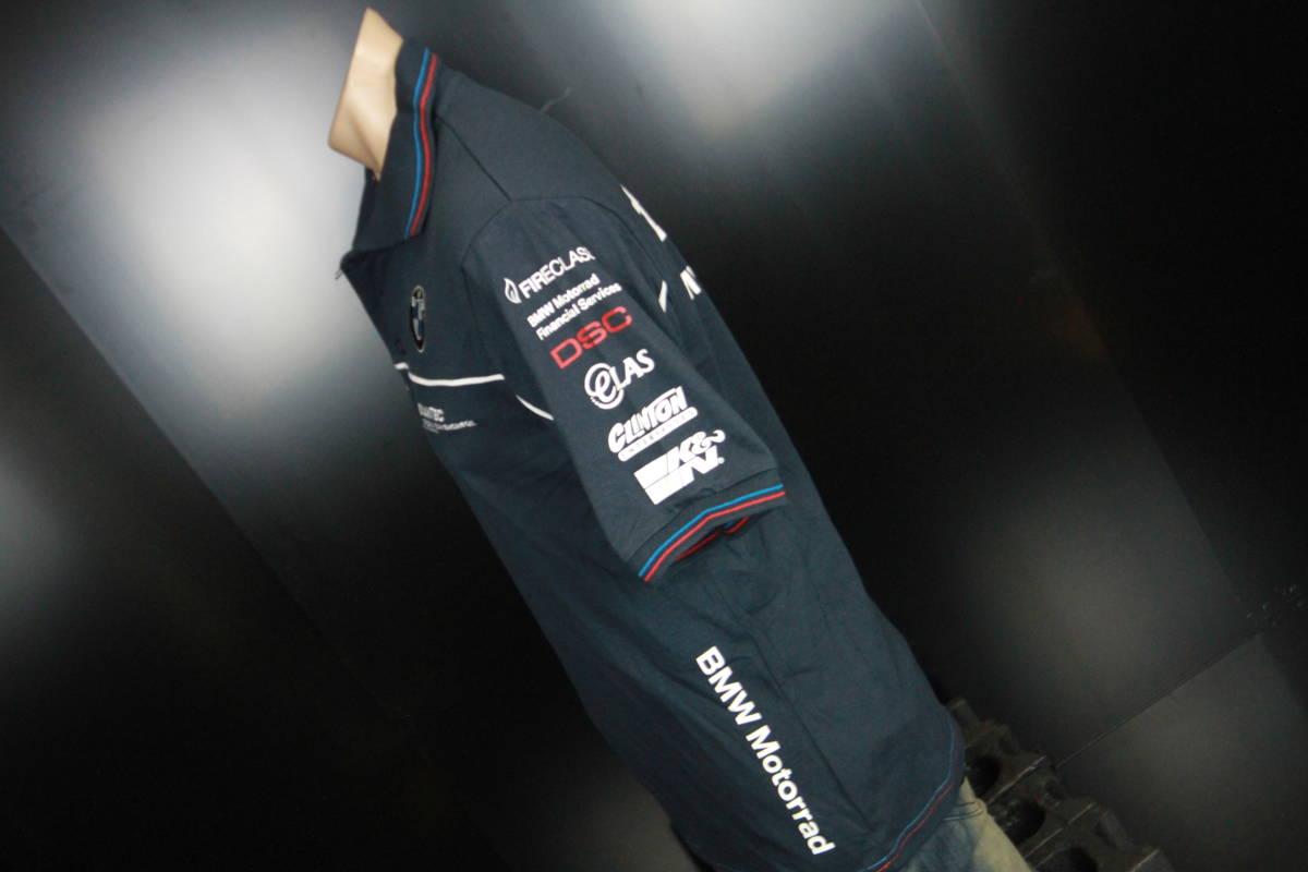 正規品!【TYCO BMW】 SuperBike 青赤ライン オフィシャル ポロシャツ 【M】 本物(検 motoGP Super Bike TT BSB 【BMW Motorrad】)_画像9